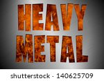 cut out funky heavy metal and... | Shutterstock . vector #140625709
