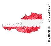 austria map hand drawn sketch.... | Shutterstock .eps vector #1406259887