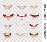 cartoon mouth male and female... | Shutterstock .eps vector #1406275181
