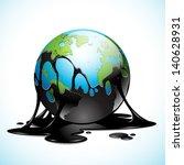 vector illustration of earth... | Shutterstock .eps vector #140628931