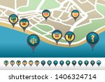 diving vector pin map icon... | Shutterstock .eps vector #1406324714