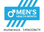 national men's health month in... | Shutterstock .eps vector #1406328674