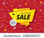 sale banner layout design ... | Shutterstock .eps vector #1406334317