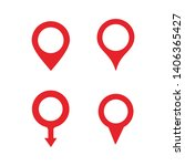 pin maps location icon vector | Shutterstock .eps vector #1406365427