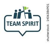 team spirit and working... | Shutterstock .eps vector #1406386901