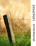 Split Wood Fence Post With...