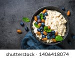 Oatmeal Cereal Porridge With...
