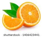 Fresh Orange Isolated On White...