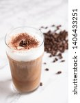 iced cappuccino with coffee bean | Shutterstock . vector #1406433251
