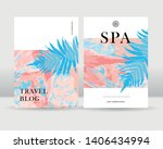 abstract exotic tropical leaves ... | Shutterstock .eps vector #1406434994