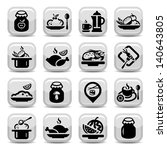 elegant food vector icons set... | Shutterstock .eps vector #140643805
