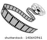 film rolling out of a film reel.... | Shutterstock . vector #140643961
