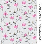 cute floral all over  vector... | Shutterstock .eps vector #1406451644