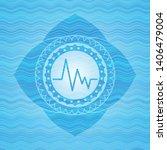 electrocardiogram icon inside... | Shutterstock .eps vector #1406479004