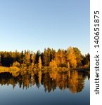 Autumn Forest And Lake In The...