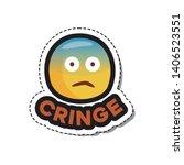 Cringe. Emoji Sticker For...