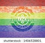 philosophy emblem on mosaic...   Shutterstock .eps vector #1406528801