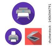bitmap design of printer and... | Shutterstock . vector #1406544791