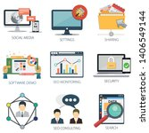 business vector icons... | Shutterstock .eps vector #1406549144