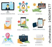 business vector icons...   Shutterstock .eps vector #1406549177