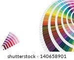 illustration of pantone colors... | Shutterstock . vector #140658901