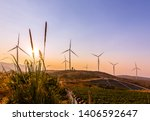 electricity production with... | Shutterstock . vector #1406592647