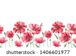 watercolor seamless border with ... | Shutterstock . vector #1406601977