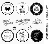 restaurant design elements | Shutterstock .eps vector #140663194