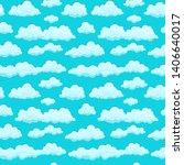 clouds sky seamless pattern... | Shutterstock . vector #1406640017