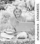 business lady freelance work... | Shutterstock . vector #1406668031