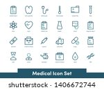 medical icon set with... | Shutterstock .eps vector #1406672744