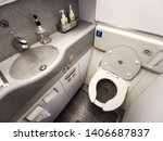 Inside Airplane Lavatory .small ...