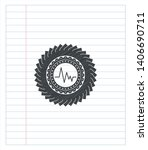 electrocardiogram icon emblem... | Shutterstock .eps vector #1406690711