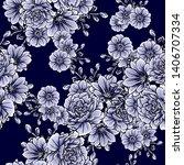 flower print. elegance seamless ... | Shutterstock . vector #1406707334