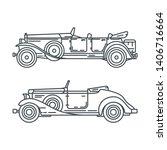 line vector icon set american... | Shutterstock .eps vector #1406716664