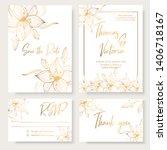 wedding invitation template... | Shutterstock .eps vector #1406718167