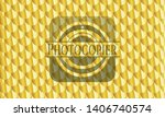 photocopier shiny golden badge. ... | Shutterstock .eps vector #1406740574