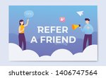 refer a friend word concept...