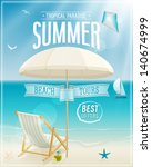 summer tropical poster. vector... | Shutterstock .eps vector #140674999