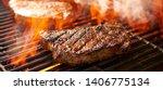 Rib Eye Steaks Cooking On...