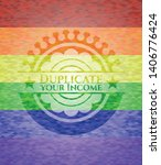 duplicate your income emblem on ... | Shutterstock .eps vector #1406776424