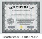 grey certificate of achievement ... | Shutterstock .eps vector #1406776514