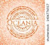 oceania orange mosaic emblem.... | Shutterstock .eps vector #1406776517