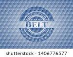 belt blue emblem with geometric ... | Shutterstock .eps vector #1406776577