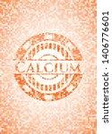 calcium orange mosaic emblem.... | Shutterstock .eps vector #1406776601