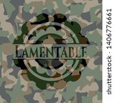 lamentable on camouflaged... | Shutterstock .eps vector #1406776661