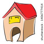 it is a building or shed... | Shutterstock .eps vector #1406777414