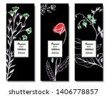 herbal illustration on label... | Shutterstock .eps vector #1406778857