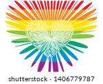 happy love pride    rainbow... | Shutterstock .eps vector #1406779787