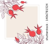 square frame with flowers ... | Shutterstock .eps vector #1406781524